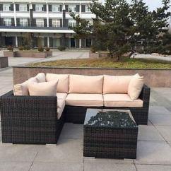 Rattan Sofa Set Uk Tv Arrangement New Wicker Conservatory Outdoor Garden Furniture Corner Table