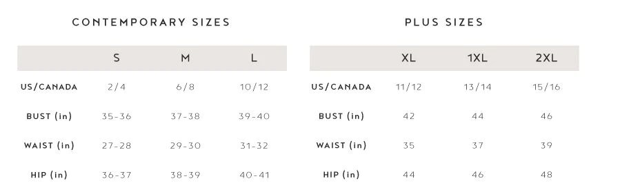 Umgee size chart also charts  debra  passion boutique rh debraspassionboutique