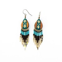 Beaded Southwest Earrings CBB - Vavavida