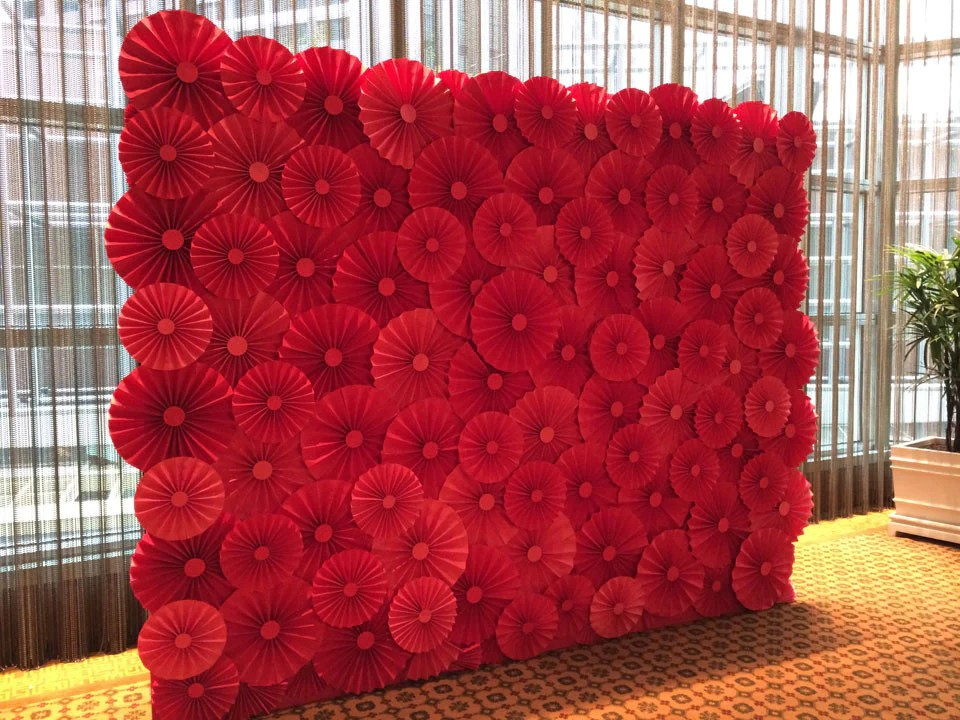Paper Flower Backdrop  Paper Fan  For the Wedding Singapore
