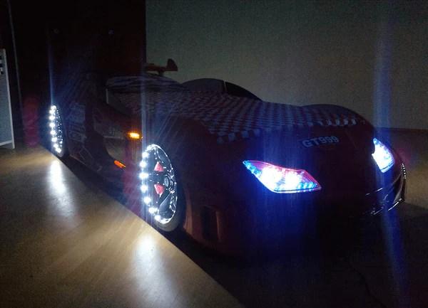 Speedster GT999 Red Car Bed with Lights Sounds  Doors