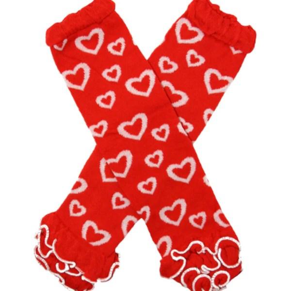 Ruffled Valentine Heart Leg Warmers Cute Kids Clothing