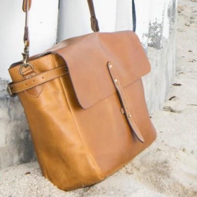 Full Grain Leather Messenger