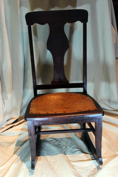 Antique NursingSewing Rocker Small Star pattern seat