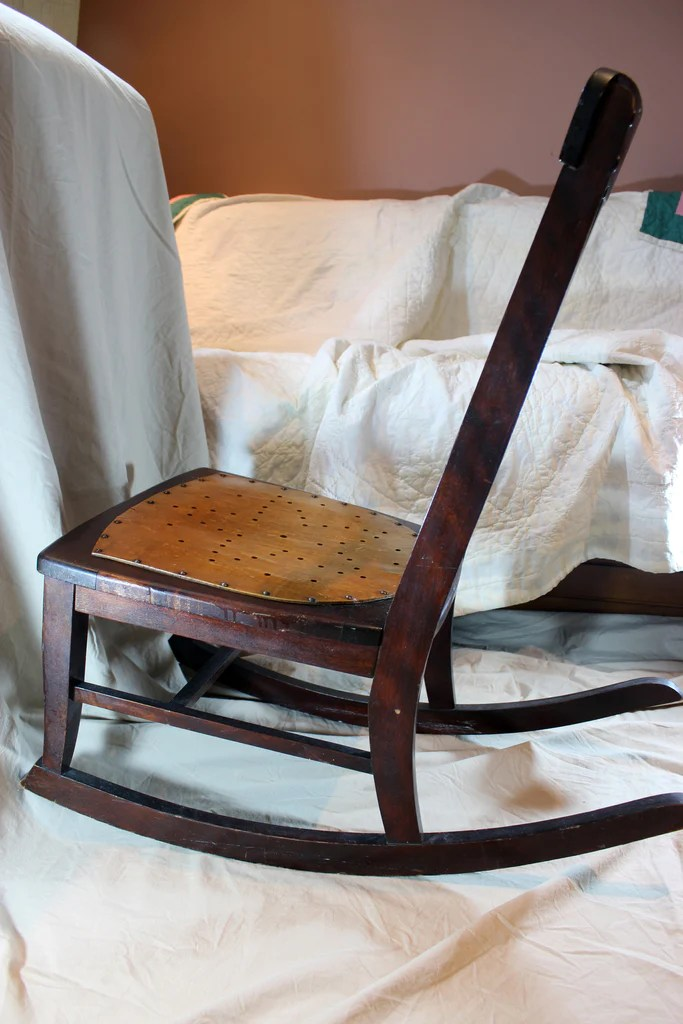 antique sewing chair homemade sex nursing rocker small star pattern seat with a past