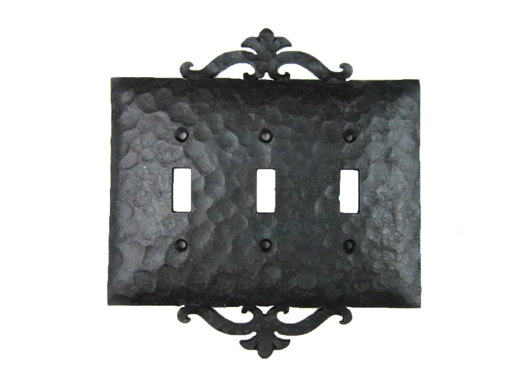 EP2 Series Spanish Revival Rustic Wrought Iron Triple