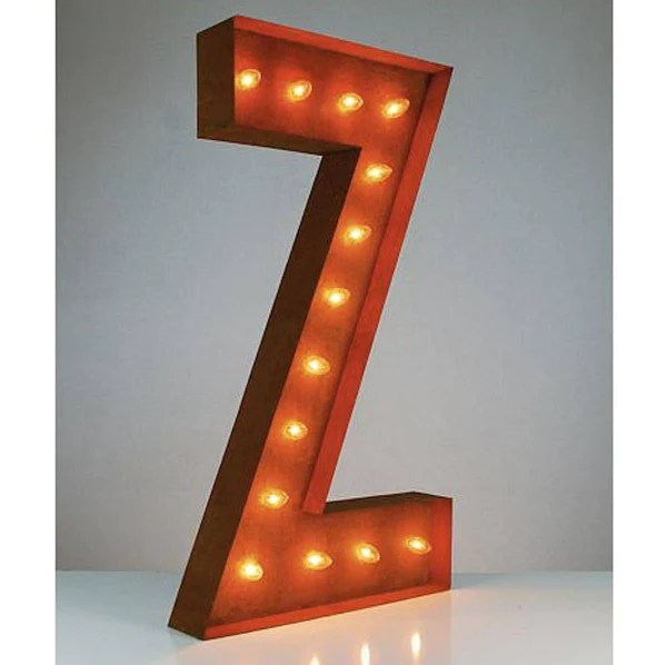 36 Letter Z Lighted Vintage Marquee Letters Rustic