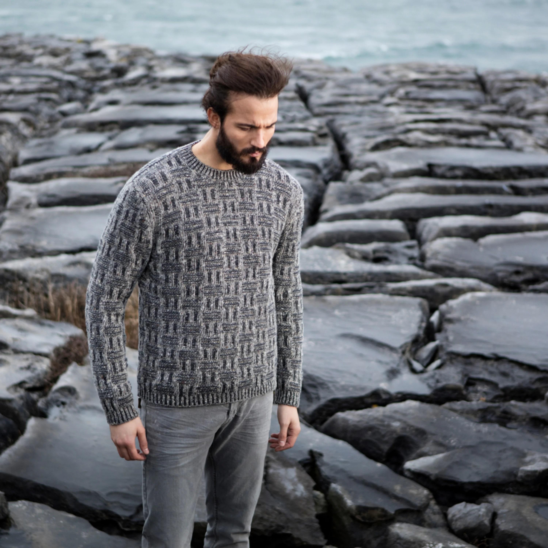 mens irish wool sweater