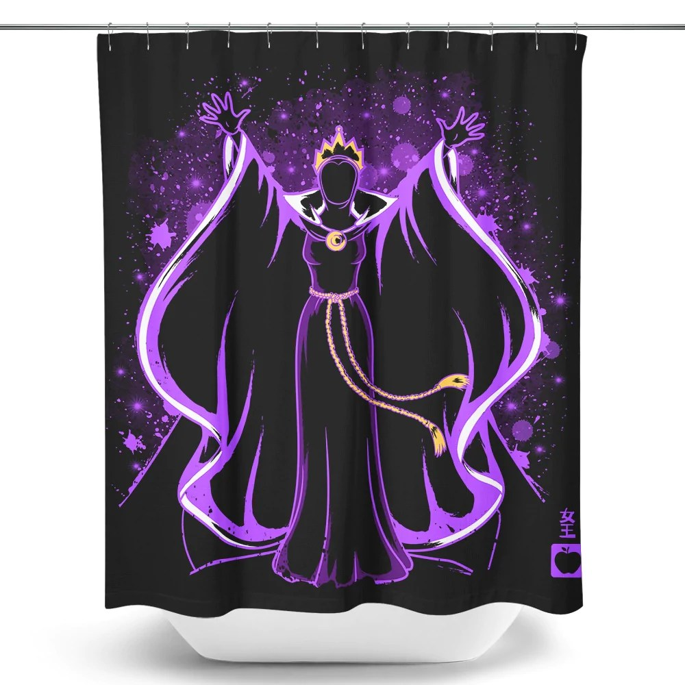 the evil queen shower curtain