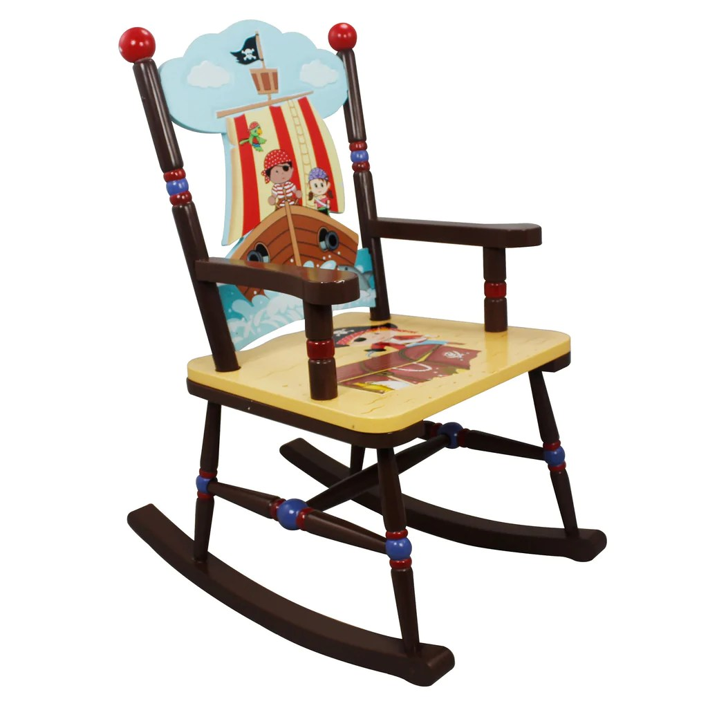 bedroom rocking chair cheap black covers childrens pirates island themed kids nursery