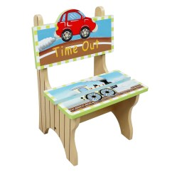 Kids Time Out Chair Bar Steel Reinforcement Fantasy Fields Childrens Transportation Themed Wooden