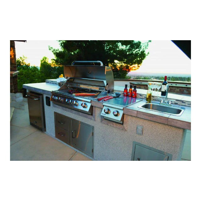 large stainless steel sink taps for a built in bbq