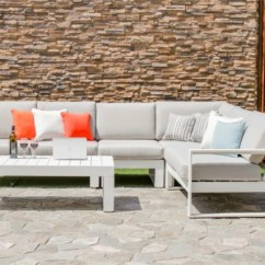 Maze Rattan Half Moon Sofa Set Grey Flip Bed Sets Gardenbox Amalfi Large Corner Metal By