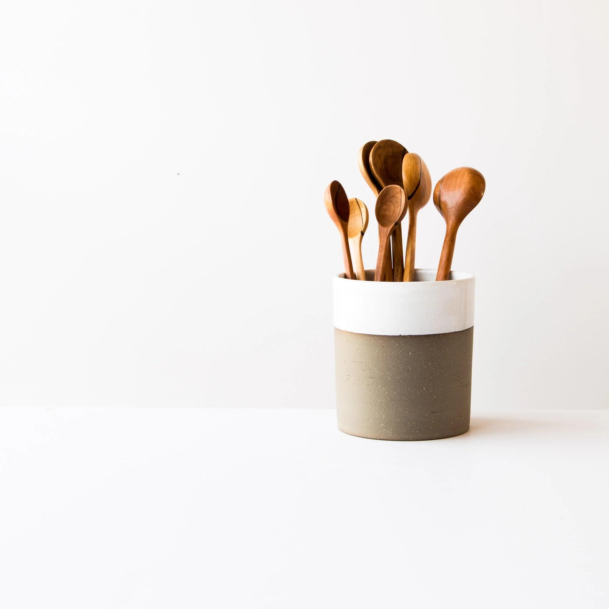 kitchen tool crock remodel kitchens ceramic ustensil ice bucket wine chiller handmade sold online by chic basta