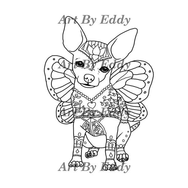 chihuahua coloring book for all ages – lovethebreed