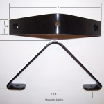 Closet Rod Bracket For Angled Sloped Ceiling Dimensions Groover Enterprises Inc