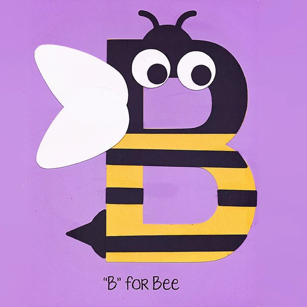 Alphabet Art Template Upper B Bee – Who Arted