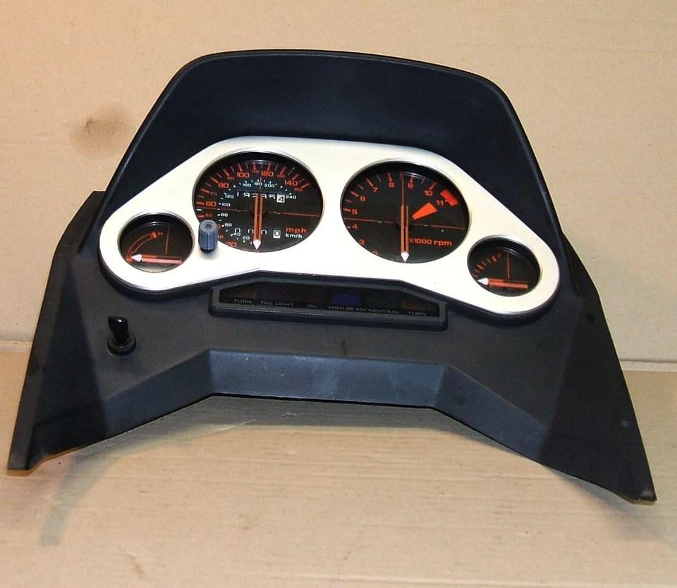 1983 honda vf750 interceptor gauge cluster speedometer tachometer gauges  [ 960 x 835 Pixel ]