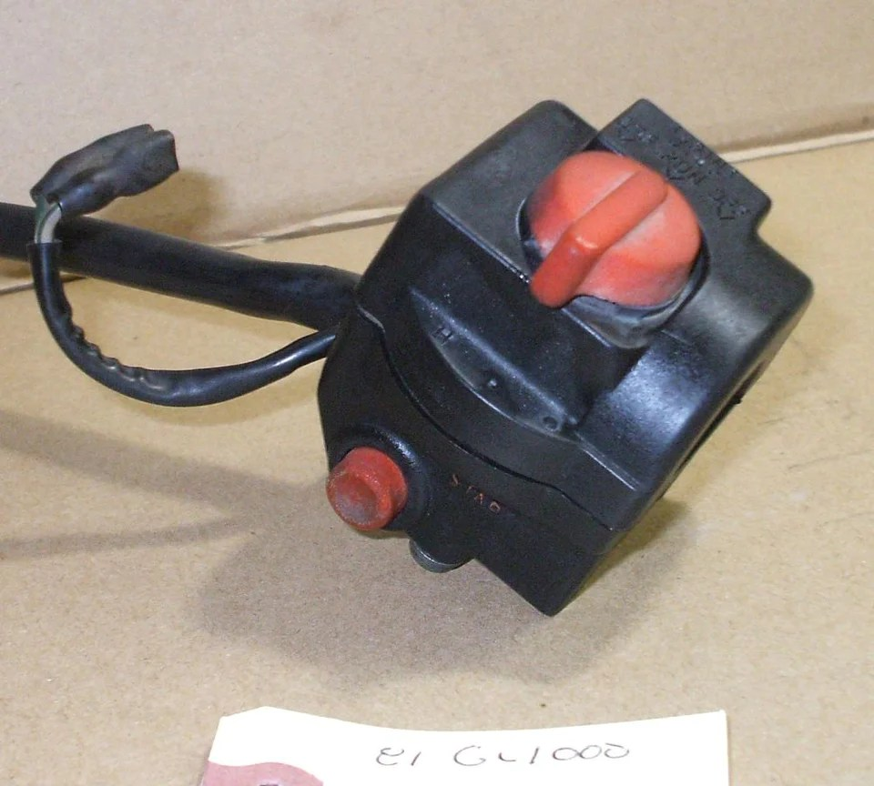 medium resolution of  1983 honda gl1100 goldwing bar control switch right r kill starter button