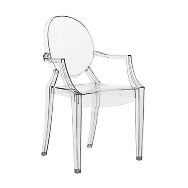 Philippe Starck Style Louis Ghost Arm Chair  Clear  SALTERNATIVE FURNITURE