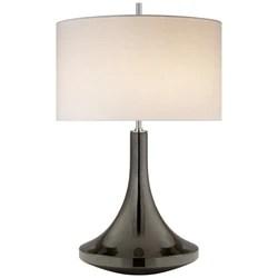 visual comfort ks 3634bkp l kate spade new york minola medium table lamp in black pearl