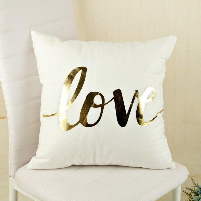 gold foil decorative pillow case covers