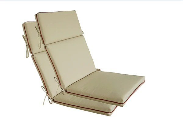 Light Khaki High Back Chair Cushion  Bossima USA Outdoor