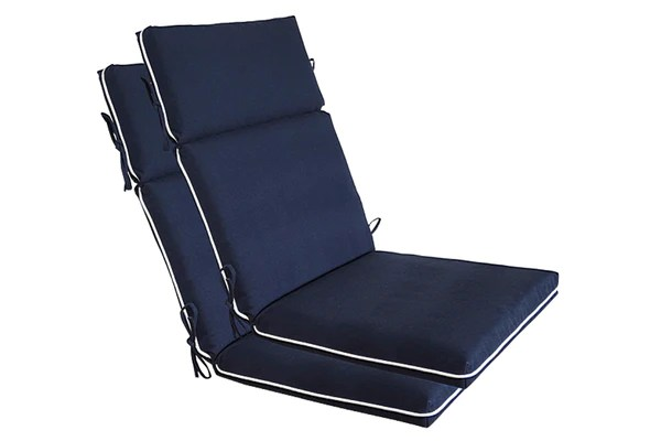 Navy Blue High Back Chair Cushion  Bossima USA Outdoor