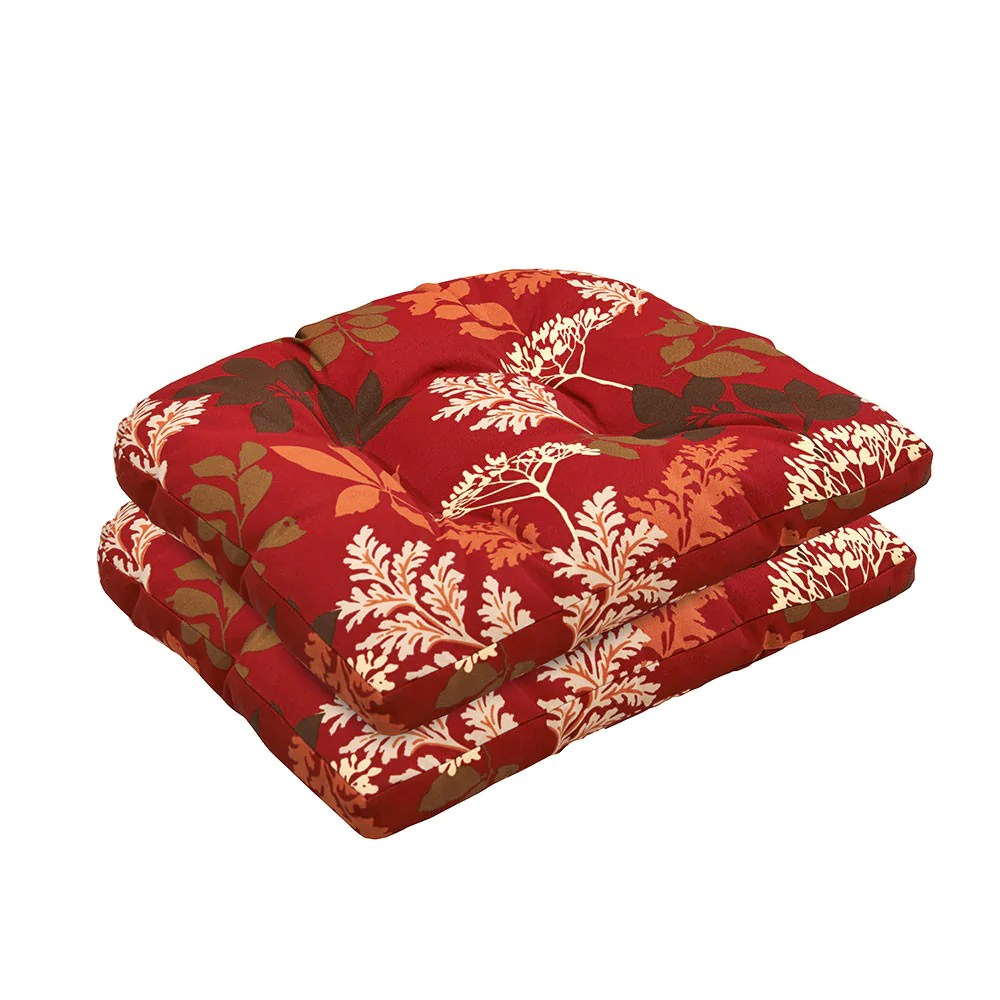 wicker lounge chair floor canada red/brown floral cushion set | bossima outdoor furniture