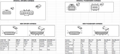 small resolution of 2007 2014 nnbs chevy gm seat swap memory bypass heat setup 2012 tahoe power seat wiring diagram