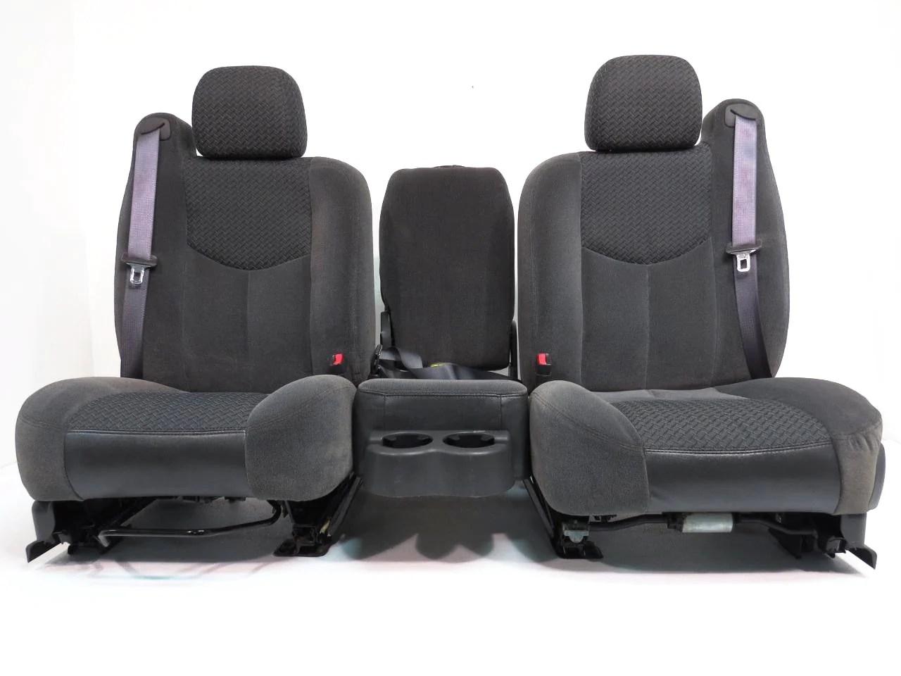 hight resolution of chevy gmc truck suv dark grey cloth front seats 2000 2001 2002 2003 2004 2005 2006