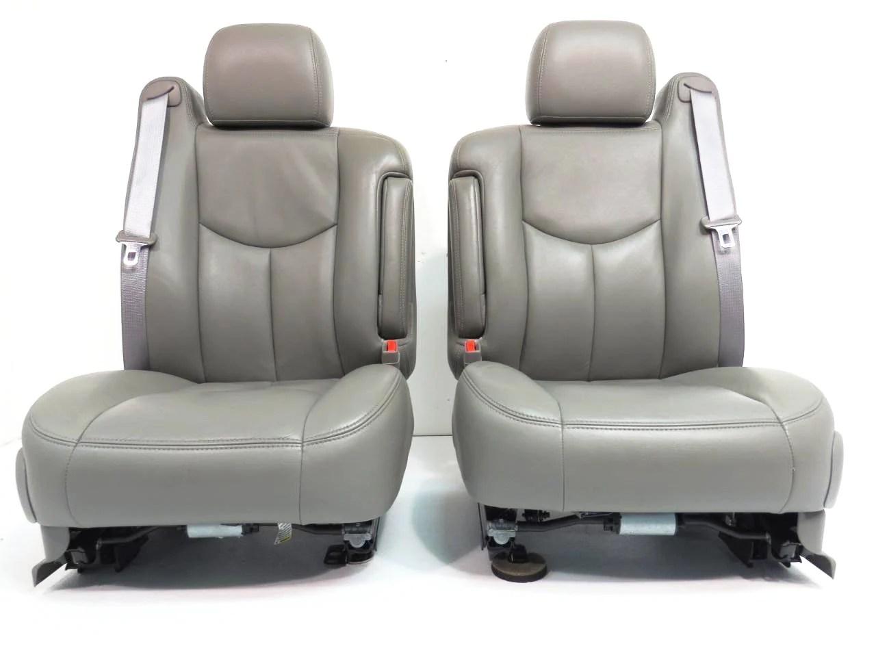 medium resolution of  chevy gmc silverado sierra tahoe yukon suburban oem leather seats pewter grey 2000 2001 2002 2003