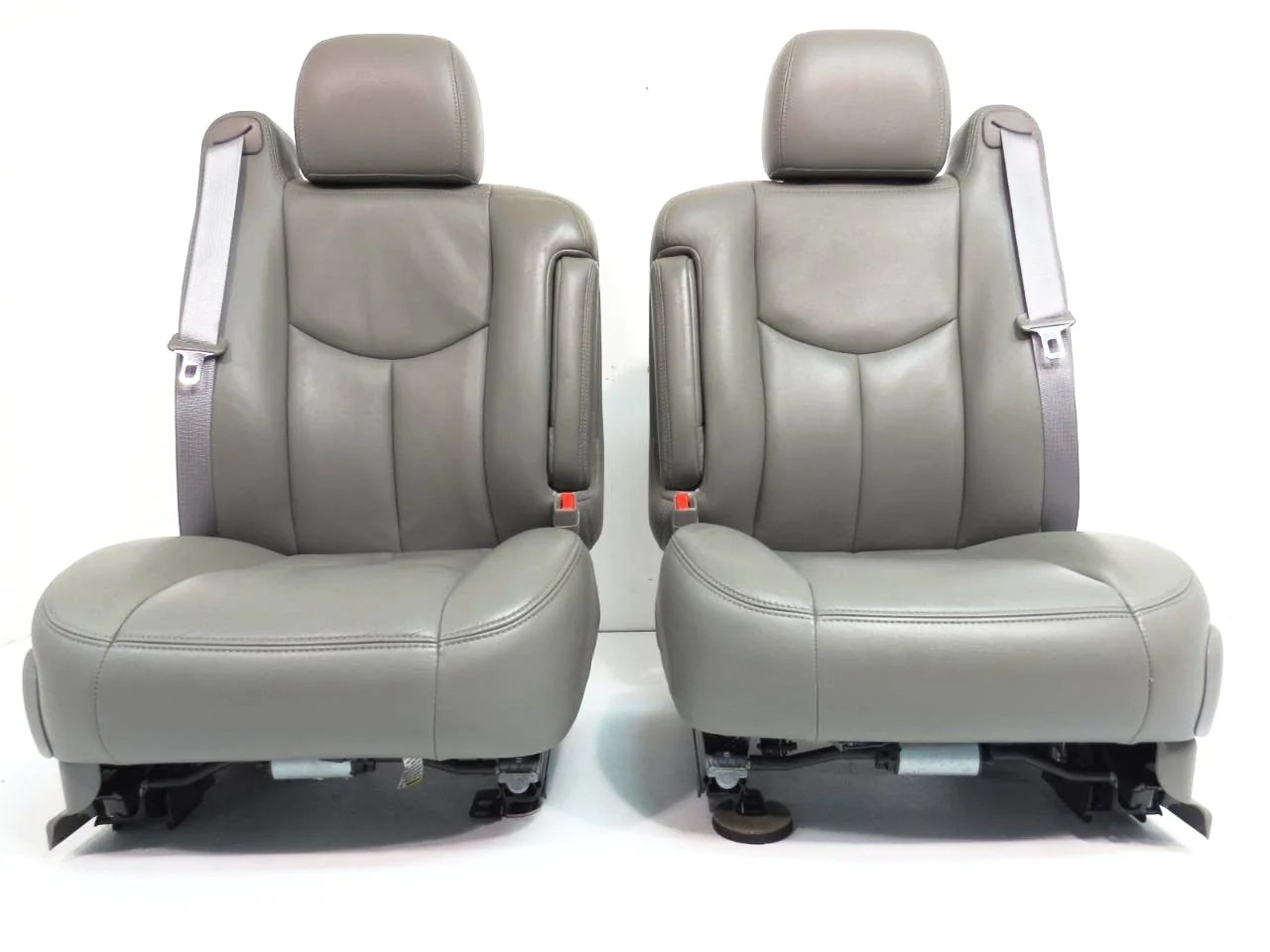 hight resolution of  chevy gmc silverado sierra tahoe yukon suburban oem leather seats pewter grey 2000 2001 2002 2003