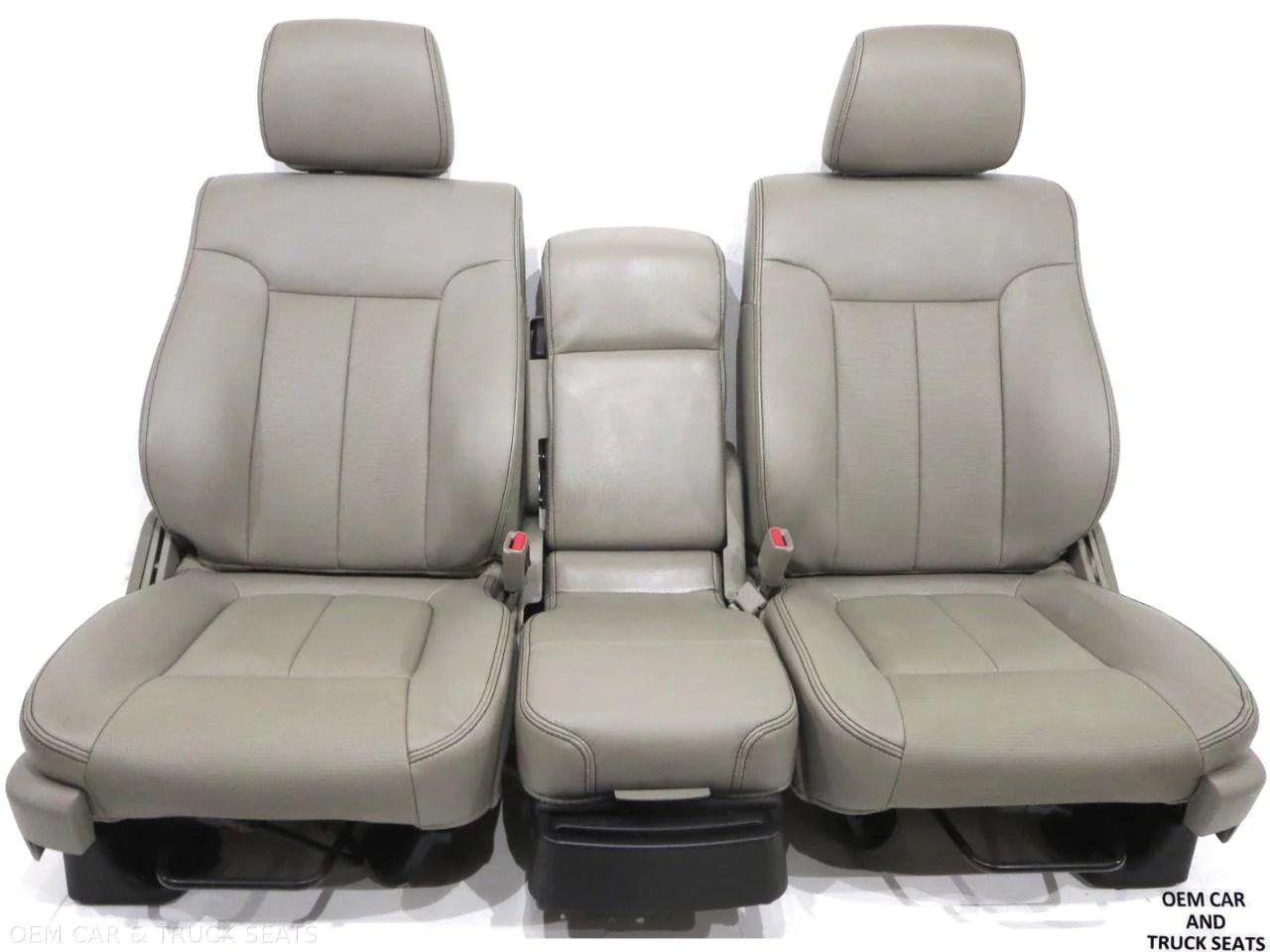 hight resolution of ford f150 f 150 oem stone vinyl seats 2009 2010 2011 2012 2013 2014