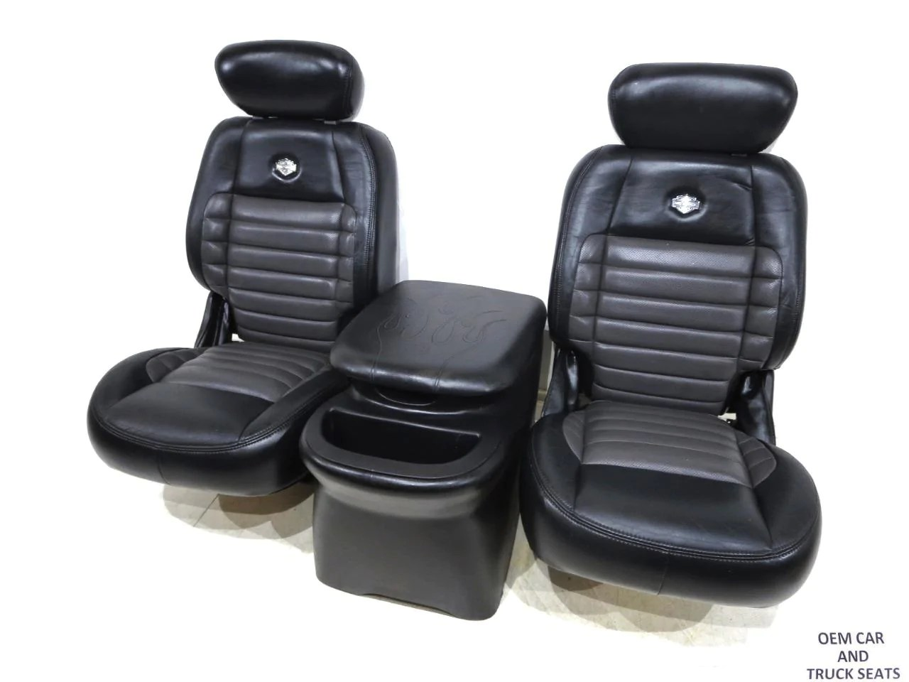 ford f 150 harley rear leather bucket seats 1997 2000 2001 2002 2003 [ 1280 x 960 Pixel ]