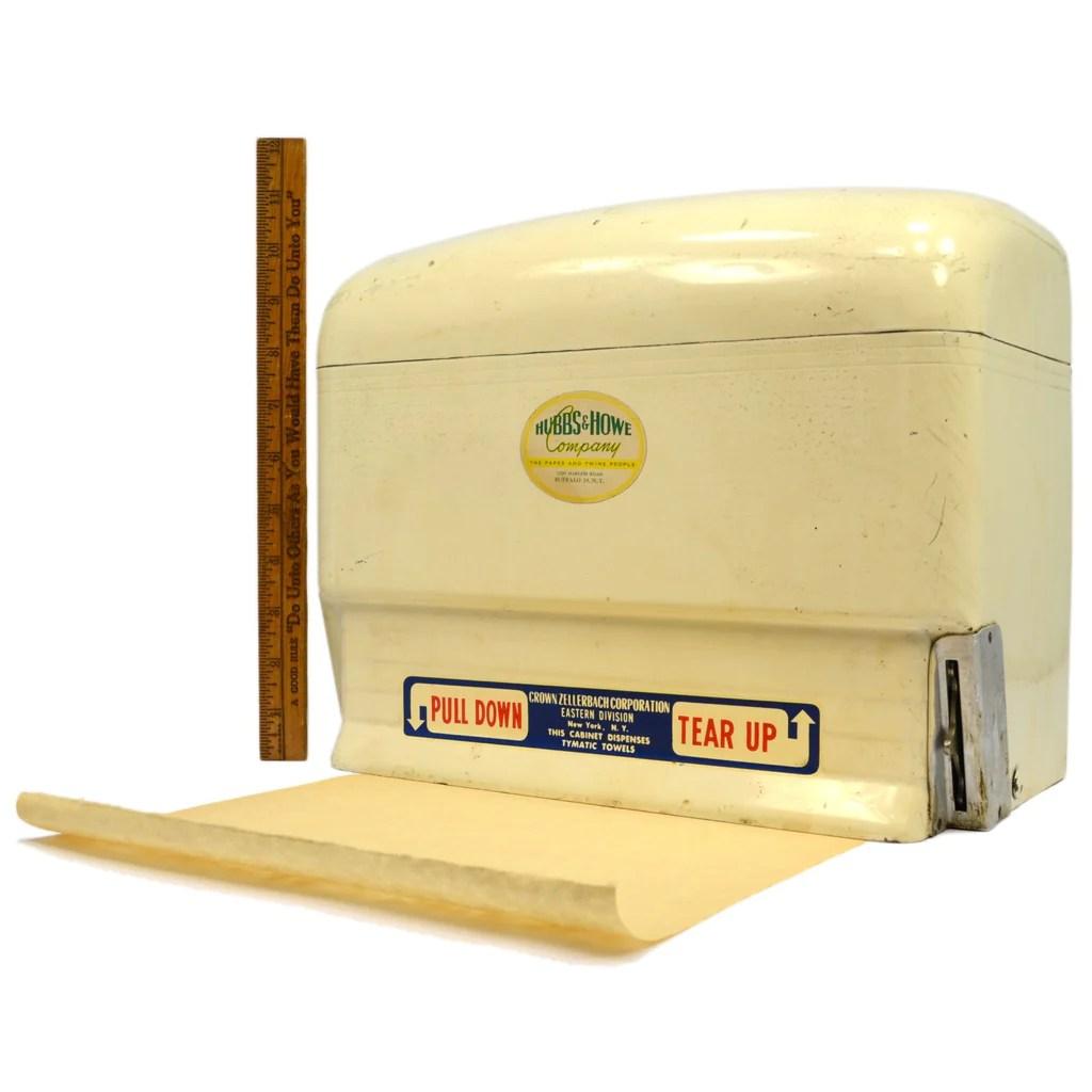 vintage metal paper towel