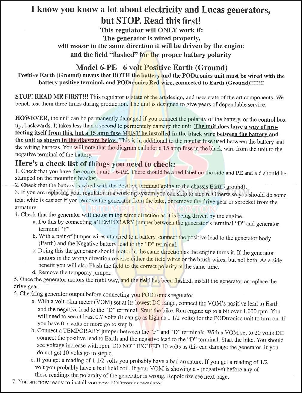 hight resolution of  podtronics 6 volt dc regulator positive ground page 2