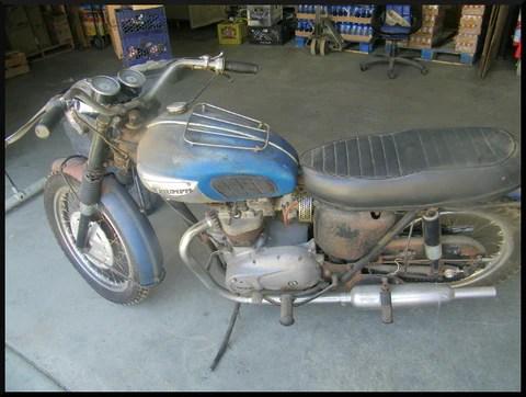 triumph t100 wiring diagram 1991 club car 36 volt uncovering an original 1968 tiger tr6r motorcycle