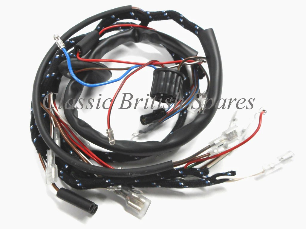 bsa a50 a65 lucas type main cloth wiring harness 54950625 1967 only [ 1024 x 768 Pixel ]