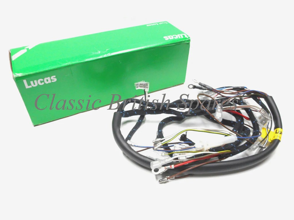 small resolution of bsa genuine lucas cloth bound wiring harness 54953385 19 0947 1968 a50 a65
