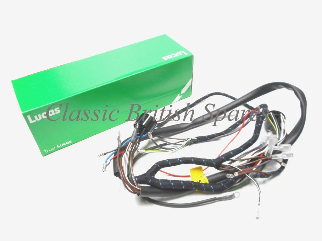 small resolution of bsa early distributor c15 b40 lucas cloth bound wiring harness 54940666 1959 63
