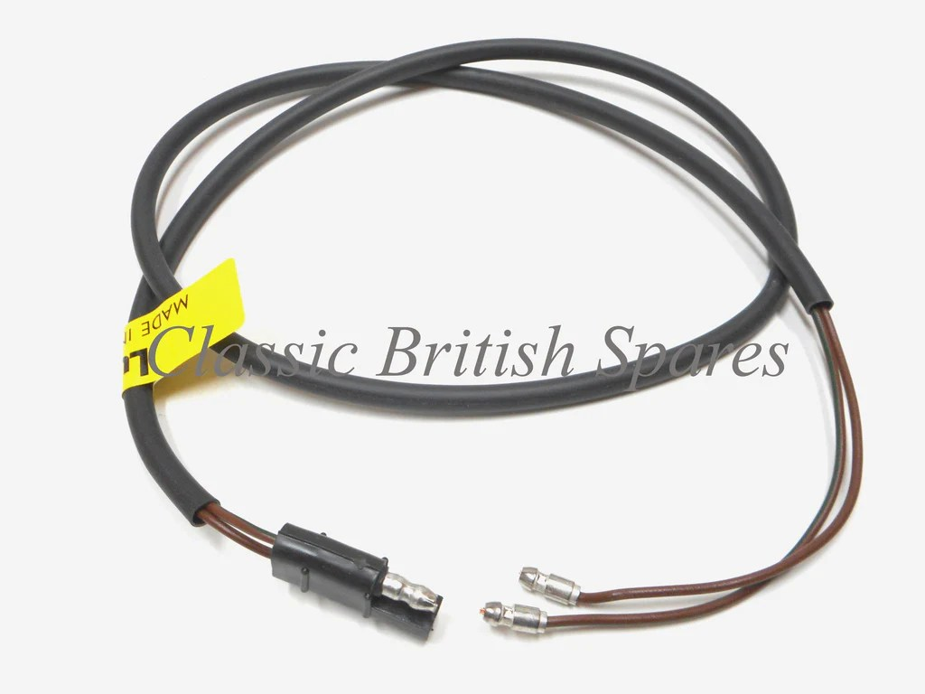 medium resolution of triumph lucas tail light wiring harness w molded end 37 838604 t90 t100 t120