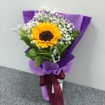 Single Sunflower One Side Bouquet Fbq1311 Btflorist
