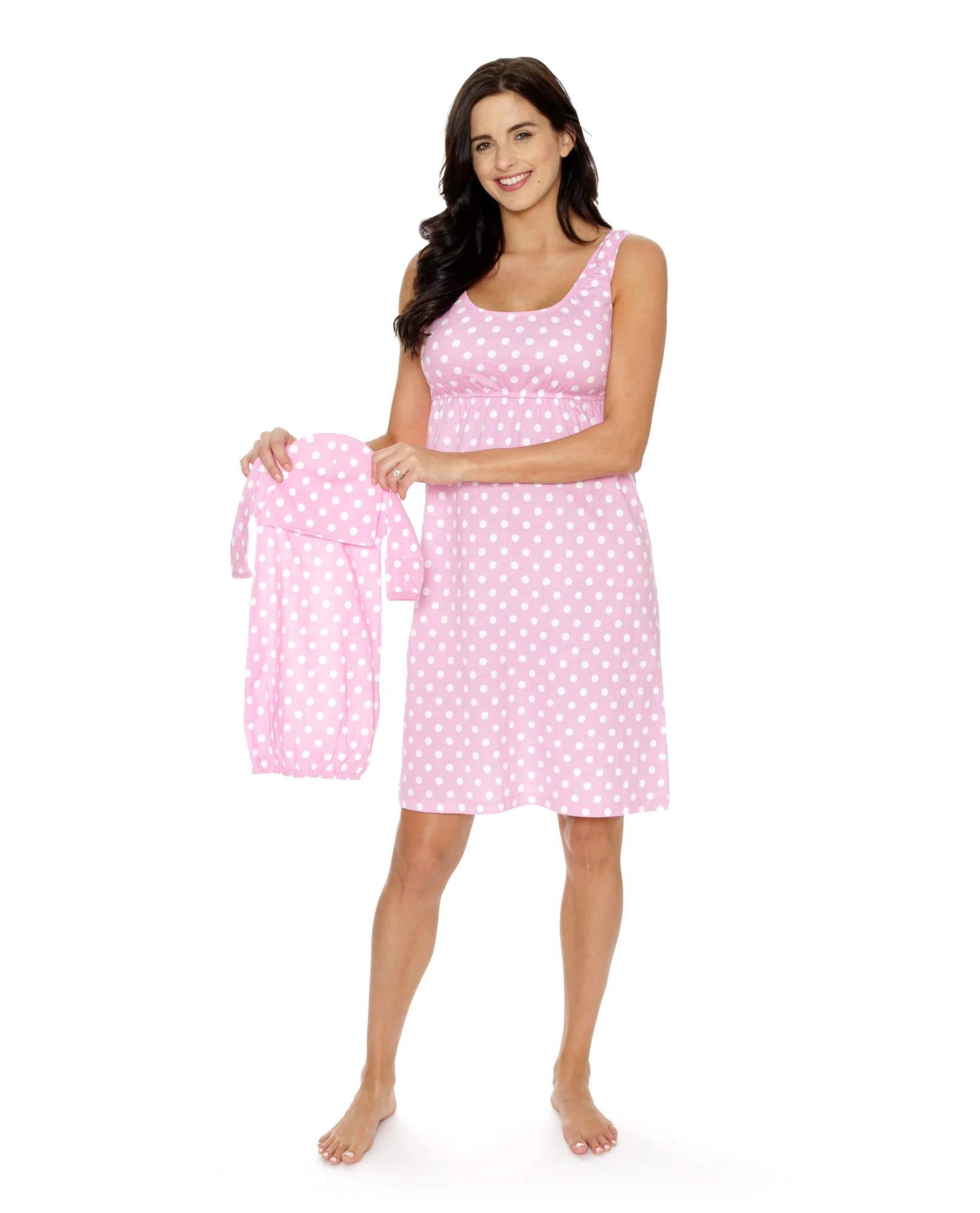 ded6af60e2ea3 Molly Maternity Delivery Nursing Nightgown Robe & Baby Receiving Gow