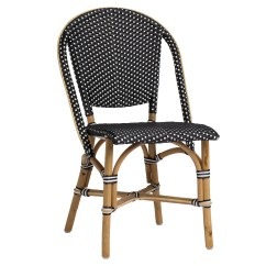 French Rattan Bistro Chairs Black Wicker Chair Sika Design Sofie Stacking Side  Usa