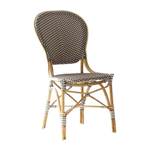 parisian cafe chairs upholstered armless chair bistro by sika design outdoor paris isabell side
