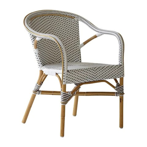 cafe rattan french bistro chairs zebra print arm chair by sika design | outdoor paris – usa