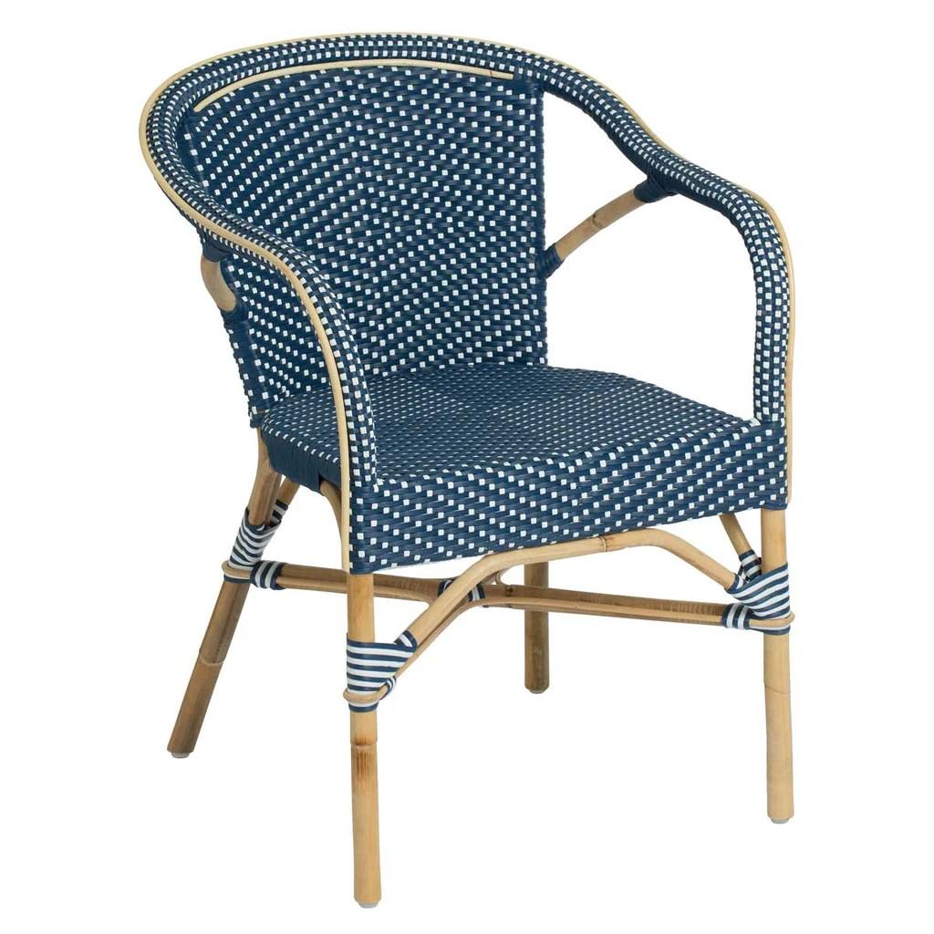 blue dot chairs wedding chair covers hire birmingham sika design madeleine bistro arm  usa