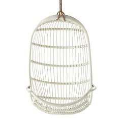 Hanging Rattan Chair Diy Dining Chairs Makeover Riviera Swing White Sika Design Usa
