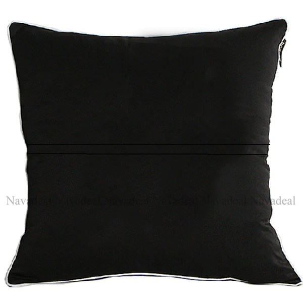 modern art chair covers and linens white windsor black embroidery decorative throw pillowcase cushion cover